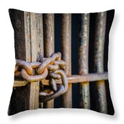 Locked Out Throw Pillow by Carolyn Marshall