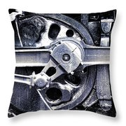 Locomotive Drive Wheels Throw Pillow by Olivier Le Queinec