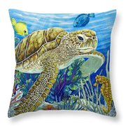 Logging Sea Time Throw Pillow by Danielle  Perry