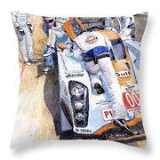 Lola Aston Martin Lmp1 Gulf Team 2009 Throw Pillow by Yuriy  Shevchuk