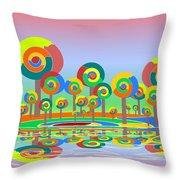 Lollypop Island Throw Pillow by Anastasiya Malakhova