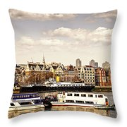 London From Thames River Throw Pillow by Elena Elisseeva