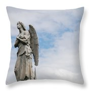 Lonely Angel Throw Pillow by Jennifer Ancker