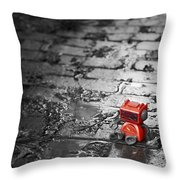 Lonely Little Robot Throw Pillow by Scott Norris