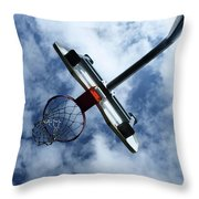 long shot Throw Pillow by Tom Druin