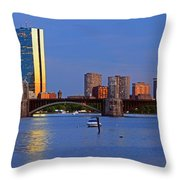 Longfellow Bridge Throw Pillow by Joann Vitali