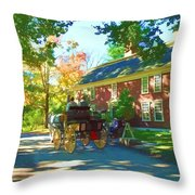 Longfellows Wayside Inn Throw Pillow by Barbara McDevitt