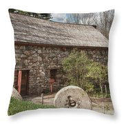 Longfellow's Wayside Inn Grist Mill Throw Pillow by Jeff Folger