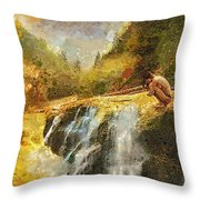 Longing Throw Pillow by Mo T
