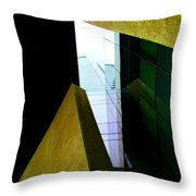 Look Up Mint Uptown Throw Pillow by Randall Weidner