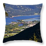 Looking Down On Sandpoint Throw Pillow by Albert Seger