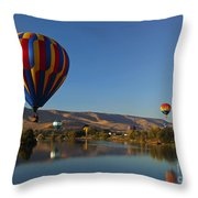 Looking For A Place To Land Throw Pillow by Mike  Dawson