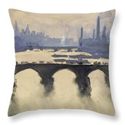 Looking Out Of My Window Circa 1890 Throw Pillow by Aged Pixel