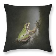 Looking Up Throw Pillow by Angie Vogel