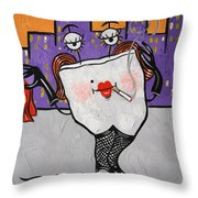 Loose Tooth Throw Pillow by Anthony Falbo