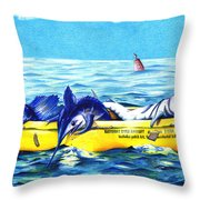 Loran Coordinates Available Throw Pillow by Karen Rhodes