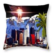 Los Angeles  Throw Pillow by Daniel Janda