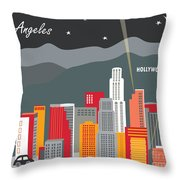 Los Angeles Throw Pillow by Karen Young