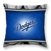 LOS ANGLES DODGERS Throw Pillow by Joe Hamilton