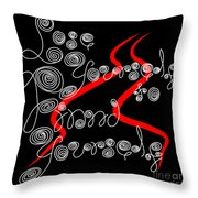 Lose Yourself To Find Yourself Handwritten Curly Cues Throw Pillow by Beverly Claire Kaiya