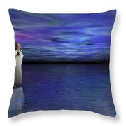 Lost Angel Throw Pillow by Bedros Awak