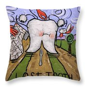 Lost Tooth Throw Pillow by Anthony Falbo