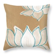 Lotus Serenity Throw Pillow by Linda Woods