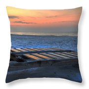 Lounge Closeup on Beach ... Throw Pillow by Michael Thomas