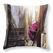 Louvre Closet Throw Pillow by Shelley Irish