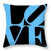 Love 20130707 Blue Black Throw Pillow by Wingsdomain Art and Photography