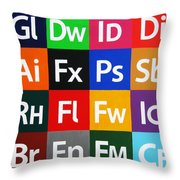 Love Adobe Throw Pillow by Oliver Johnston