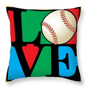 Love Baseball Throw Pillow by Gary Grayson