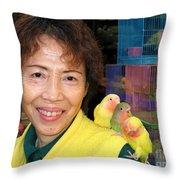 Love Birds Throw Pillow by Eva Kaufman