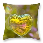 Love Bubble Throw Pillow by Delphimages Photo Creations