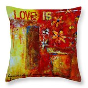 Love Is Abstract Throw Pillow by Patricia Awapara