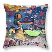 Love Is Abundant Throw Pillow by Jen Norton