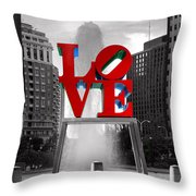 Love Isn't Always Black And White Throw Pillow by Paul Ward