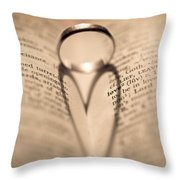 Love Throw Pillow by Jan Bickerton