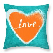 Love Throw Pillow by Linda Woods