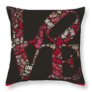 Love Quatro Heart - S111b Throw Pillow by Variance Collections