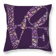 Love Quatro - Heart - S77a Throw Pillow by Variance Collections