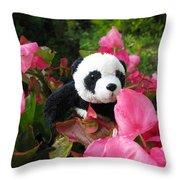 Lovely Pink Flower Throw Pillow by Ausra Huntington nee Paulauskaite
