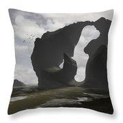 Low Tide Throw Pillow by Cynthia Decker