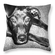 Loyal Friend Throw Pillow by Shawna Rowe