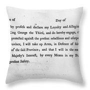 Loyalist Oath, 1779 Throw Pillow by Granger