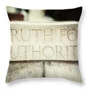 Lucretia Mott Truth For Authority Throw Pillow by Lisa Russo