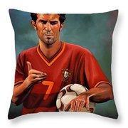 Luis Figo Throw Pillow by Paul  Meijering