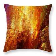 Luminous - Abstract Art Throw Pillow by Jaison Cianelli