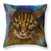 Luna Throw Pillow by Michael Creese