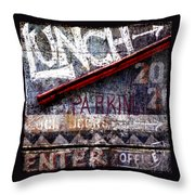 Lunch Throw Pillow by Carol Leigh